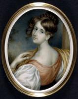 Portrait miniature of Elizabeth Gaskell