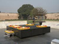 Raj Ghat:  Site of Gandhi's Cremation (in India - 2014)